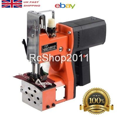 Industrial Portable Electric Bag Stitching Closer Seal Sewing Machine 220V UK