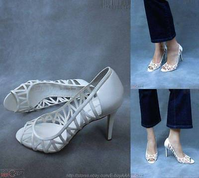 NEW 95 ENZO ANGIOLINI White Patent Lk Strappy Leather Shoes 10M EAMIXX --  FLAW 4e435d46f