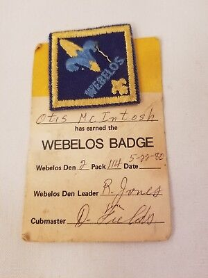 BSA Boy Scouts Cub Scout Webelos Patch New with Owner Card 1980  TM