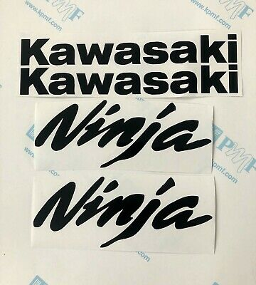 Kawasaki Ninja Decals/Stickers Set - ZX6R ZX10R 250R 7R 9R 650 - Any Color
