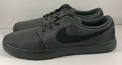 04ece69be8ce Nike SB Portmore II Ultralight Skateboarding Shoes Dark Grey Black Mens  Size 8