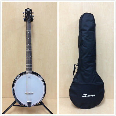 Brand new Caraya 6 string Guitar Banjo,Closed Mahogany Back +Free gig bag.BJ-006