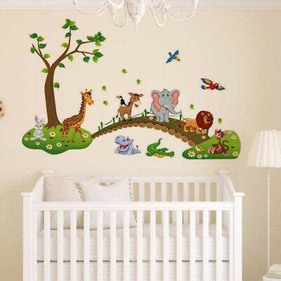 Cartoon Cute Animals Removable Wall Decal Sticker Kids Baby Nursery Room Deco Dt