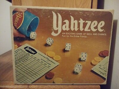 Vintage Yahtzee Game Parker Brothers 1978 100% Complete Game w/ Free Pencils!!