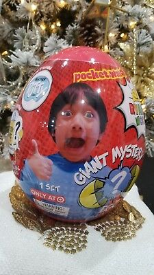 Ryan's World Giant Mystery Surprise Egg Red Youtube Slime Target Edition