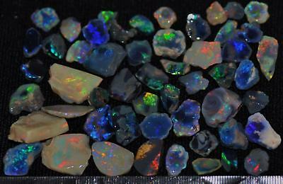 225.40Cts Solid Gem Quality Lightning Ridge Rough And Rough Rubbed Opal Parcel