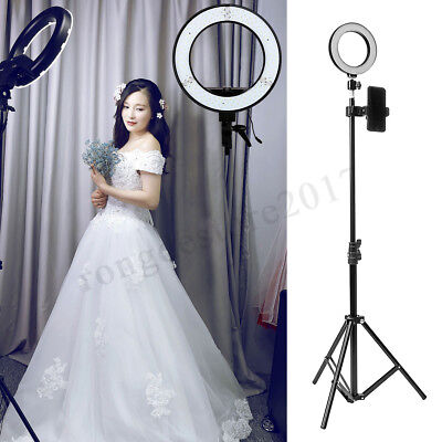 LED Ring Light Dimmable Studio Photo Video Live Lamp+Camera Phone holder+Tripod