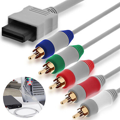 Wii 30Pin to 5RCA M/M Gold-Plated Audio Video TV HD Display Connection Cable