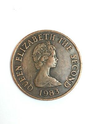 1983 Bailiwick Of Jersey Two Pence