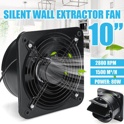 10'' Industrial Extractor Plate Fan Ventilation Axial Exhaust Commercial Blower