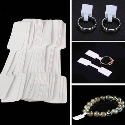 100PCS White Jewelry Ring Bracelet Necklace Price Label Sticker Display Tags