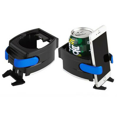 2 in 1 Smart Car Drinks Holder Water Bottle Cup Air Vent Phone Mount Bracket NEW