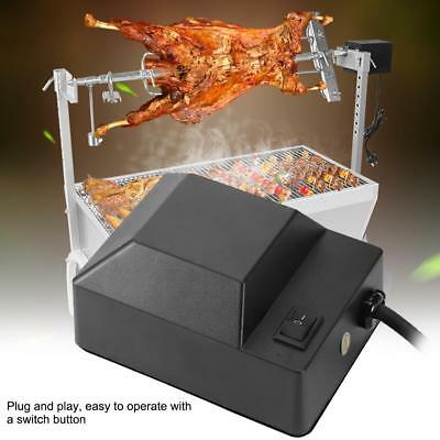 Electric BBQ Roast Rotisserie Grill Motor Rotator Barbecue Tool 220V Black