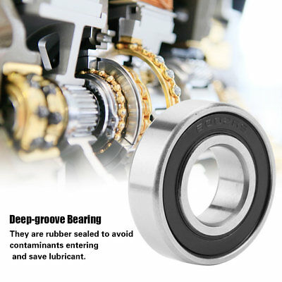 10pcs Mini Steel Rubber Sealed Deep-groove Ball Roller Bearings Various Sizes ZY