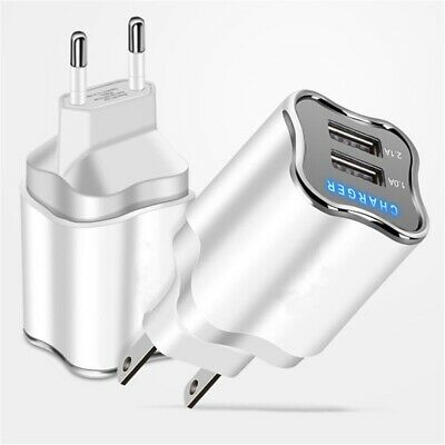 5V 2A EU/US Plug Dual USB 2 Ports Fast Wall Charger LED Adapter For Cell Phone