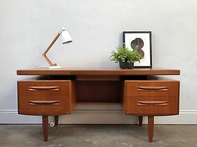 Vintage 1960s G Plan Floating Top Fresco Teak Desk. Danish Retro. DELIVERY