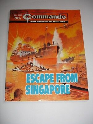 COMMANDO comic No 2280 ESCAPE FROM SINGAPORE
