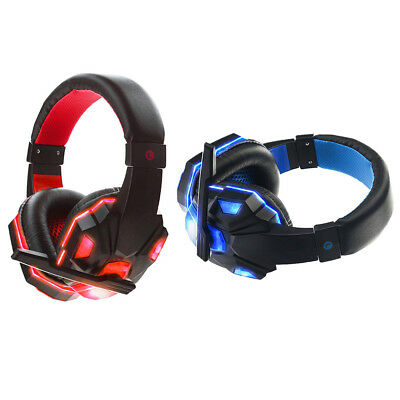3.5mm Gaming Headset MIC LED Headphones V3B for PC Laptop PS4 Slim Xbox One