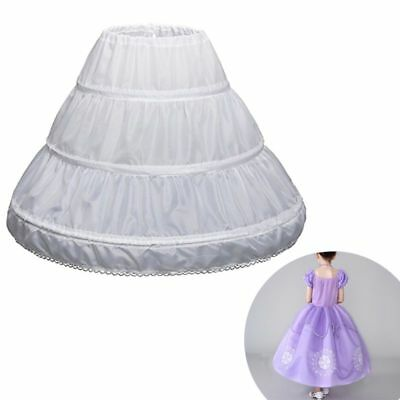 Children Petticoat A-Line 3 Hoops 1 Layer Kids Crinoline Flower Girl Underskirt