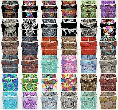 Indian Mandala Boho Duvet Cover Double/Twin/King Size Bedding Cover Quilt Cover