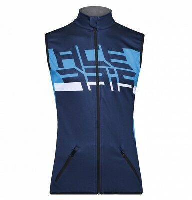 Vest Cross Enduro Acerbis Gilet  Softshell X-Wind Blu Antivento Con Tasche Tg Xl