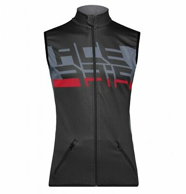 Vest Cross Enduro Acerbis Gilet Softshell X-Wind Nero Rosso Antivento Tasch Tg L