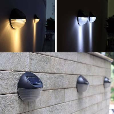 6 LED Lights Solar Powered Wall Mounted Outdoor Garden Landscape Fence Yard Lamp