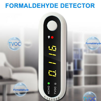 USB CO2 Formaldehyde Air Quality Monitor Plastic Data Logger Meter LCD Detector