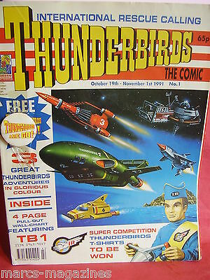 Thunderbirds International Rescue 1991 Issue # 1 With Free Gift Rare