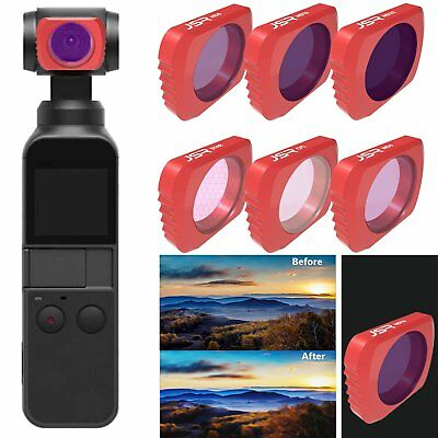Aviation Aluminum Alloy DJI  UV/STAR/CPL/ND4 Series Camera Lens For OSMO POCKET