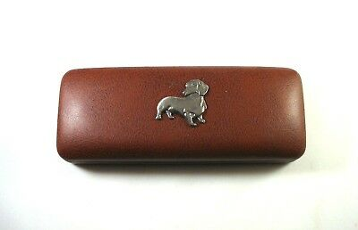 Dachshund Dog Pewter Motif On Alloy Belt Buckle Black Leather Belt Xmas Gift