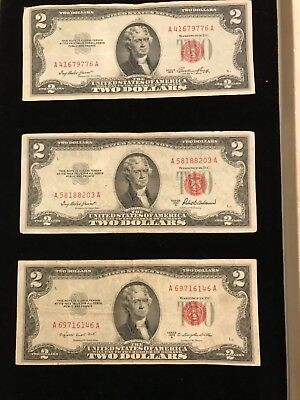 1953 & A ,B series  $2 RED SEAL Legal Tender UNITED STATES NOTE Paper Money  A41