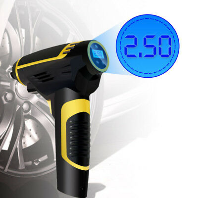 Automatic Wireless Tire Inflator with Pressure Gauge Air Compressor Pump 2200mA