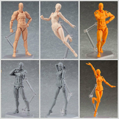 Male/Female PVC Action Figma Figure Body Toy For Painting Drawing Sketch