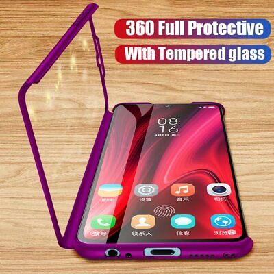 360° Full Cover Case + Tempered Glass For Samsung Galaxy J4 J6 J8 Plus A6 A7 A8