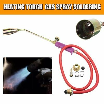 Propane Blow Torch Gas Flame Roofer Plumber Soldering Rubber+Brass Gold Nice