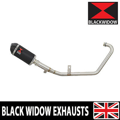 Yamaha YS125 2017-2019 Exhaust System Oval Black Stainless+Carbon Silencer BC20V