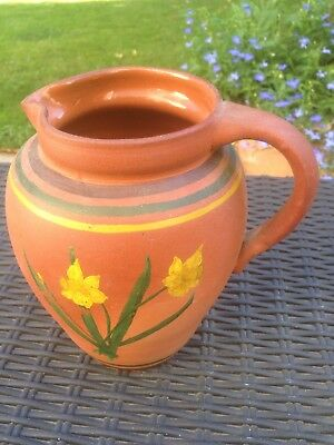 Pottery Jug Or Varse Hand Painted June 1945