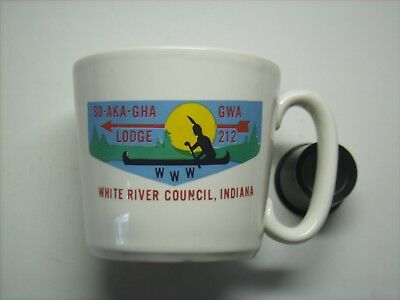 BSA Coffee Mug- MERGED OA LODGE#212 SO-AKA-GHA-GWA - White River Council,Indiana