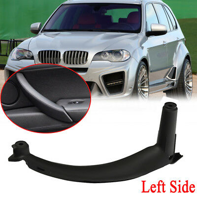 1x Black Left Inner Door Panel Handle Pull Trim Cover For BMW E70 X5 51416969401