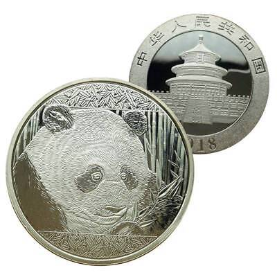 New Coin Silver 40mm Panda Souvenir Round Commemorative Gift China Collection