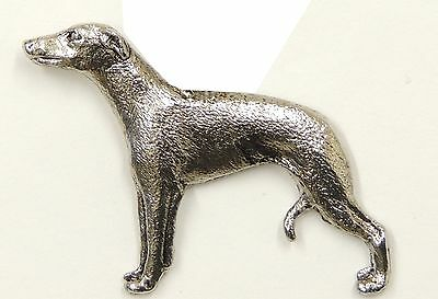 Whippet Brooch, Silver Plated