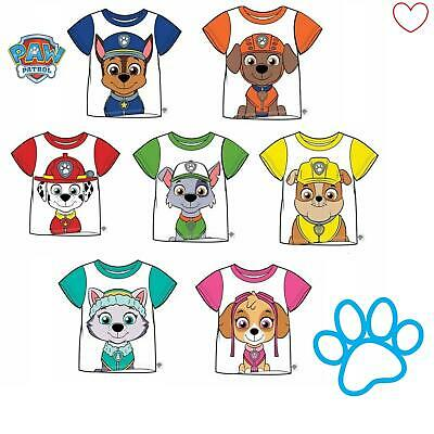 Boys Girls Paw Patrol Top T-shirt Tee Everest Chase Rocky Gift