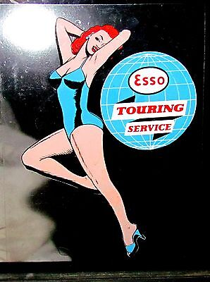 Pin-up Aufkleber pin-up Esso sticker