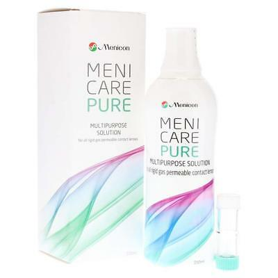 Menicare Pure multipurpose solution 250 ml for all Gas Permeable Contact Lenses