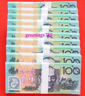 1000PCS Play Money 100 AUD bills Full Print 2 Sided Real Looking Realistic