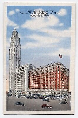 OH ~ The Deshler-Wallick Hotel COLUMBUS Ohio 1947 Franklin County Postcard