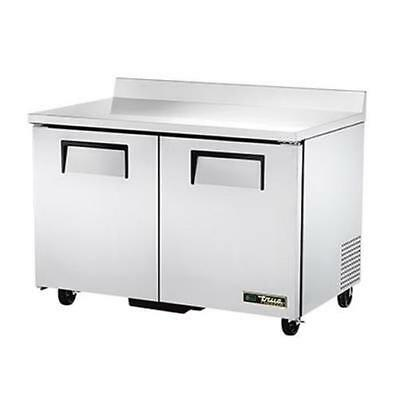 """True TWT-48F-HC 48"""" Two Section Stainless Steel Work Top Freezer"""
