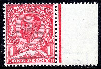 1911-2 1d SG328 Pale Carmine Die A Downey Head Imperial Crown Wmk Unmounted Mint