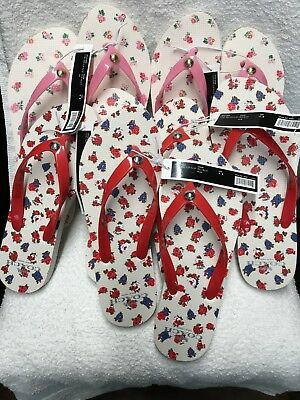 Lot of 5 Womens COACH Rubber Thong Sandals Flip Flops Wholesale Resale Resell